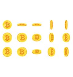 Sprite sheet gold bitcoin vector