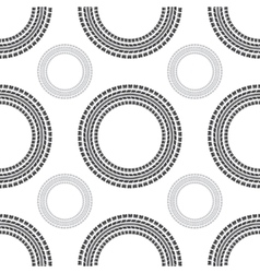 Tire track circles seamless vector