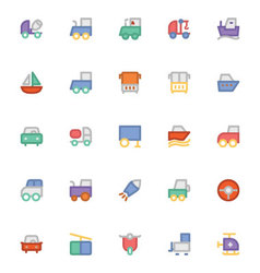 Transport icons 9 vector