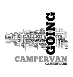 What is a campervan text word cloud concept vector