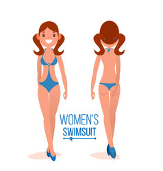 women s swimsuit fashion girl displaying vector image