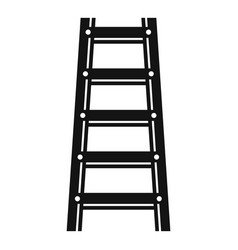 Wood ladder icon simple style vector