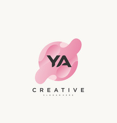 Ya initial letter colorful logo icon design vector