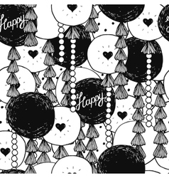 Hand drawn happy birthday background vector