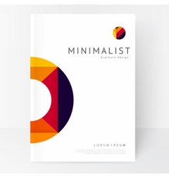 Minimalistic white brochure template vector