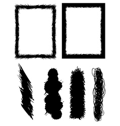 set of banners brushes and frames vector image