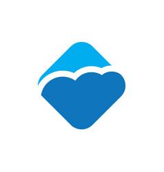 square cloud logo vector image