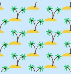 desert island pattern vector image