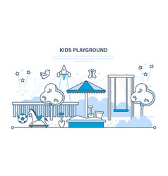 children s entertainment playground with a swings vector image vector image