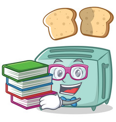 geek toaster character cartoon style vector image vector image
