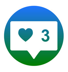 like and comment sign white icon in vector image