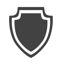 shield protection insignia security style icon vector image