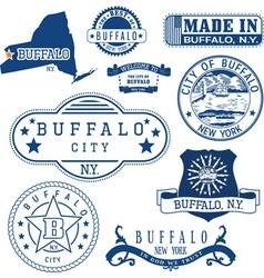 Buffalo city New York vector image
