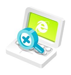 icon internet vector image
