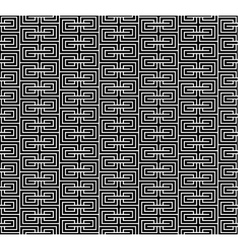 Spiral geometric black seamless vector image vector image