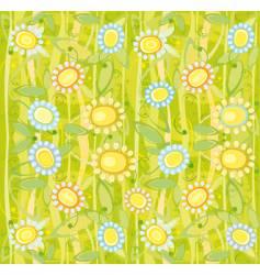 sunflower floral background vector image