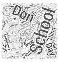 Teaching Responsibility Word Cloud Concept vector image