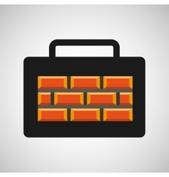 tool box bricks construction icon design vector image vector image