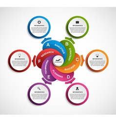 Abstract options infographics template vector image