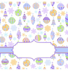Background with multicolored balls vector image