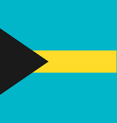 bahamas flag icon in flat style national sign vector image