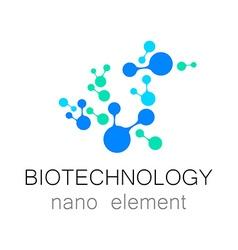 Biotechnology nano logo vector