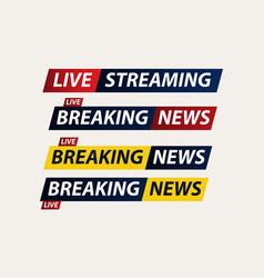 Breaking news live corona virus covid-19 template vector