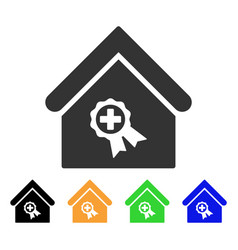 Certified clinic building icon vector