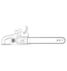 Chain saw rendering 3d vector