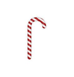Christmas sweet Candy Cane with Shadow vector image