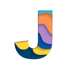 Colorful letter j vector