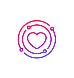 Core value line icon vector