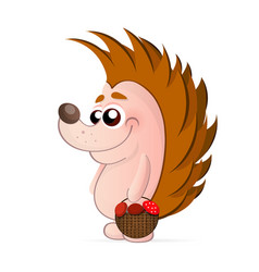 cute hedgehog isolated vector image