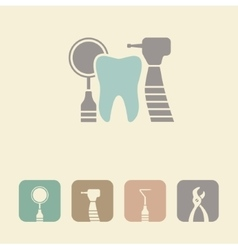 Dental symbol icon vector
