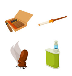 design tobacco and habit logo set of vector image