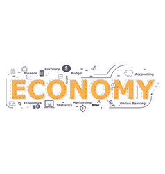 Economy word desigh vector