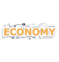 Economy word design vector