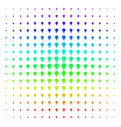 Electric bulb icon halftone spectral grid vector