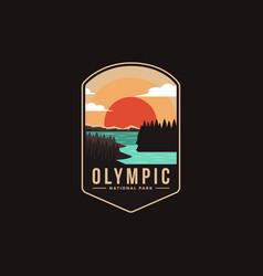 Emblem patch logo olympic national park vector