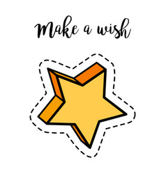 Fashion patch element star vector