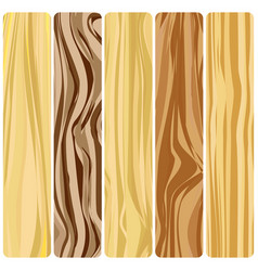 Five wooden boards vector