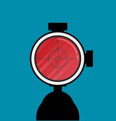 Flat modern design gun icon sight vector