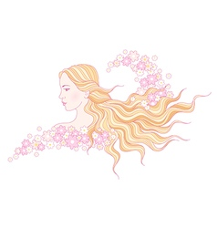 floral beauty wave vector image