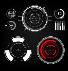 future sight action mode interface ui future vector image