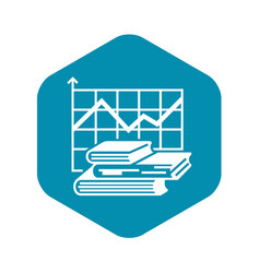Graph finance book icon simple style vector
