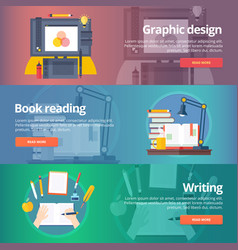 Graphic design digital painting book reading vector