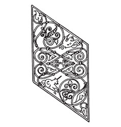 grill panel is a german 16th century design vector image