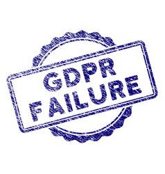 Grunge textured gdpr failure stamp seal vector
