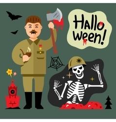 Halloween Zombie Cartoon vector