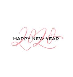 happy 2020 new year calligraphy phrase vector image